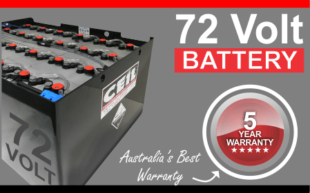 72 volt forklift battery